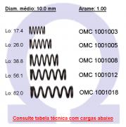 Mola compressão OMC 10008XX  (Embalagem 10 peças)