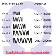 Mola compressão OMC 12506XX (Embalagem 5 peças)