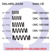 Mola compressão OMC 16010XX  (Embalagem 5 peças)