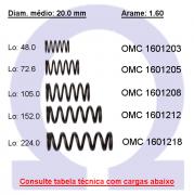 Mola compressão OMC 16012XX  (Embalagem 5 peças)