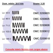 Mola compressão OMC 32006XX  (Embalagem 5 peças)