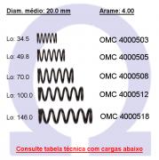 Mola compressão OMC 40005XX  (Embalagem 5 peças)