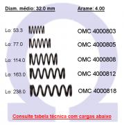 Mola compressão OMC 40008XX  (Embalagem 5 peças)