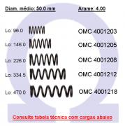 Mola compressão OMC 40012XX  (Embalagem 5 peças)