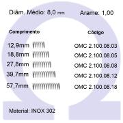 Mola Compressão OMC INOX 10008XX (Embalagem 10 peças)