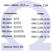 Mola Compressão OMC INOX 20012XX  (Embalagem 5 peças)