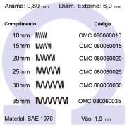 Mola de Compressão OMC 080060XXX  (Embalagem 10 peças)