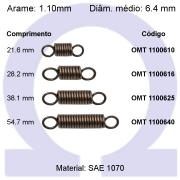 Mola de tração OMT 11006XX (Embalagem 10 peças)