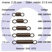 Mola de tração OMT 22010XX (Embalagem 5 peças)