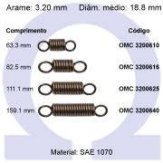 Mola de tração OMT 32006XX (Embalagem 5 peças)