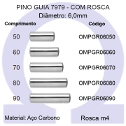 Pino Guia 7979 OMPGR 06050/60/70/80/90 (Emb.50 peças)