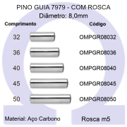 Pino Guia 7979 OMPGR 08032/36/40/45/50 (Emb.10 peças)