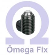 Posicionador Om615 m10X19/25/35 com Mola e Esfera - Chave Fenda (Embalagem 10 Peças)