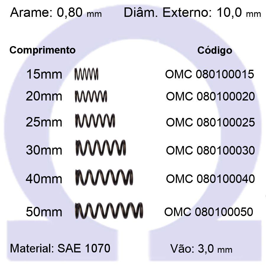 Mola de Compressão OMC 080100XXX (Embalagem 10 peças)