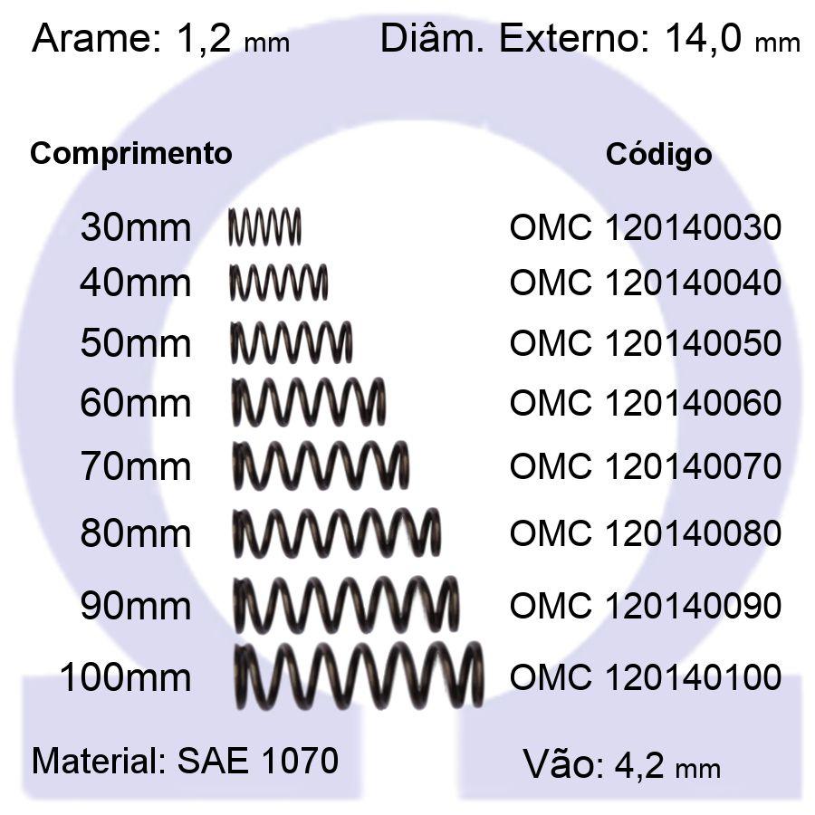 Mola de Compressão OMC 120140XXX (Embalagem 10 peças)