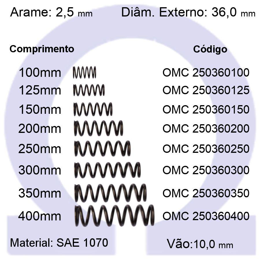 Mola de Compressão OMC 250360XXX (Embalagem 5 peças)