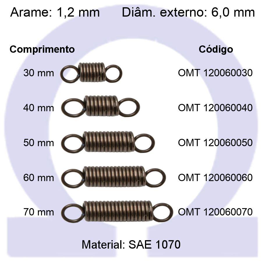 Mola de Tração OMT 120060XXX (Embalagem 10 peças)