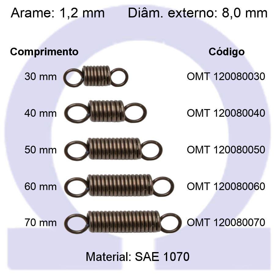 Mola de Tração OMT 120080XXX (Embalagem 10 peças)