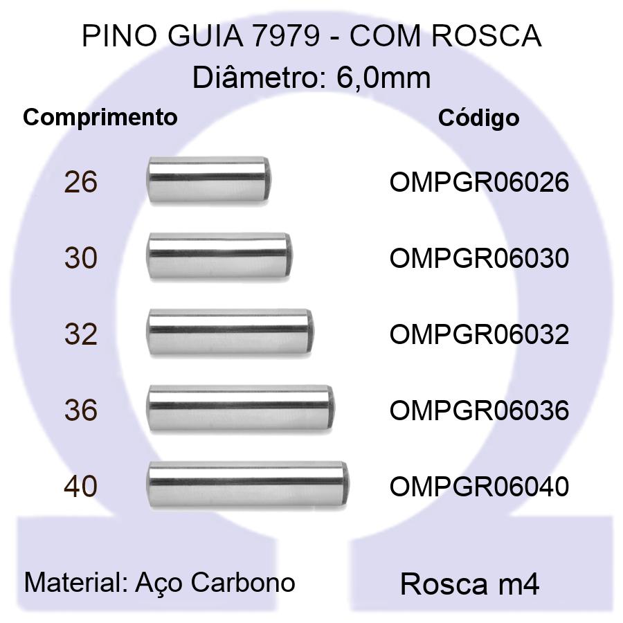 Pino Guia 7979 OMPGR 06026/30/32/36/40 (Emb.50 peças)