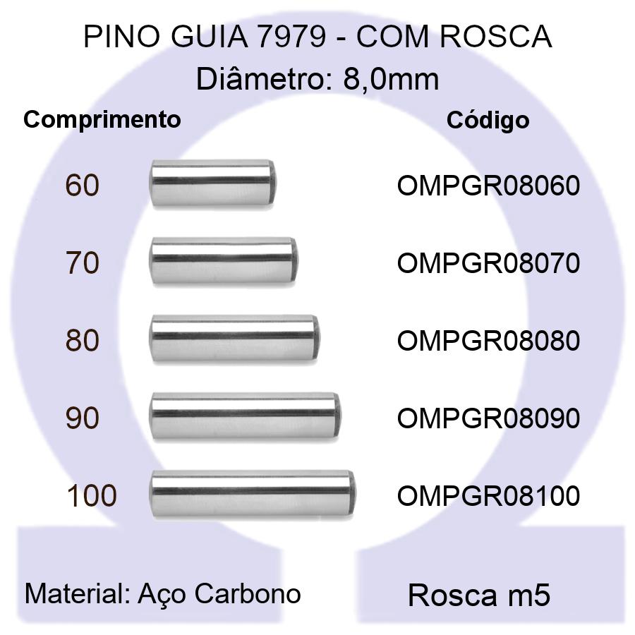 Pino Guia 7979 OMPGR 08060/70/80/90/100 (Emb.30 peças)