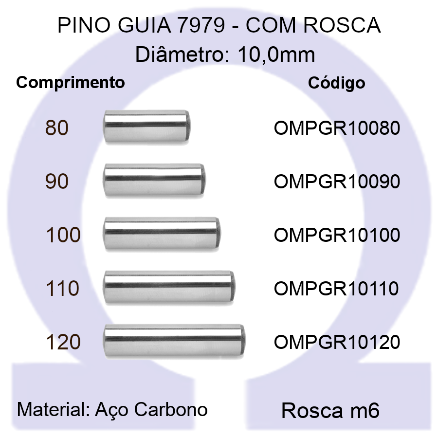 Pino Guia 7979 OMPGR 10080/90/100/110/120 (Emb.10 peças)