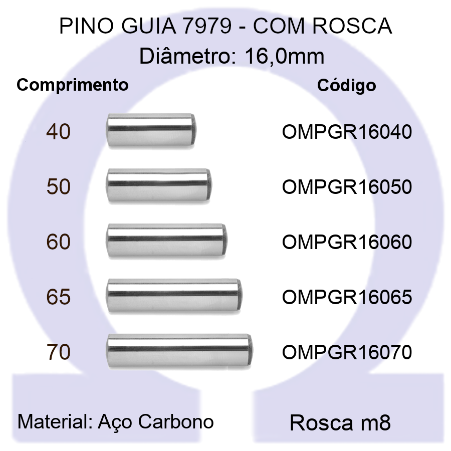 Pino Guia 7979 OMPGR 16040/50/60/65/70 (Emb.20 peças)