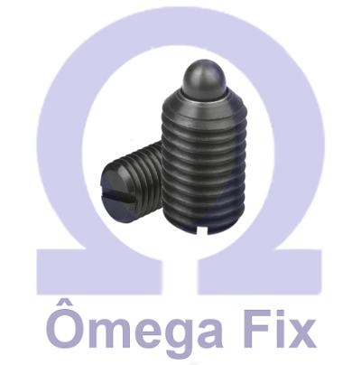 Posicionador OM615.1 M 8x15 com Mola e Pino - Chave Fenda (Embalagem 10 peças)