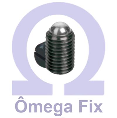 Posicionador Om615 m 4X 9/15 com Mola e Esfera - Chave Fenda (Embalagem 10 Peças)