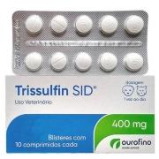 Antibiótico Trissulfin Sid 400mg- Cartela c/ 10 Comprimidos