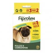 Antipulgas e Carrapatos Cães 1 kg - 10 kg Fiprolex Leve 3 e Pague 2