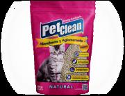 Areia Higiênica Aglutinante para Gatos Pet Clean Natural - SEM PERFUME
