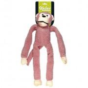 Brinquedo Pelúcia Macaco Rosa Grande