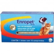 Antimicrobiano Enropet 10 Comprimidos