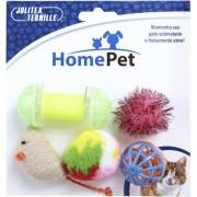 Kit Brinquedo Gato Home Pet com 5 unidades