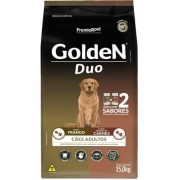 Ração Golden Duo Adulto Frango e Carne 15kg