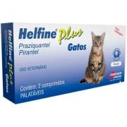 Vermífugo Helfine Plus Gatos c/ 2 Comprimidos