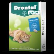Vermífugo para Gatos Bayer Drontal - caixa c/ 4 Comprimidos
