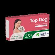 Vermífugo Top Dog Cães 2,5kg com 4 Comprimidos