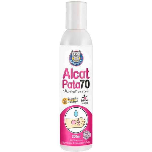 Álcool Gel para Pet Alcat Pata 70 200ml