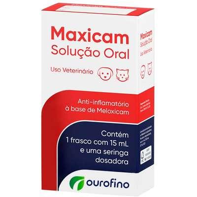 Anti- inflamatório Maxicam Solução Oral 15mL