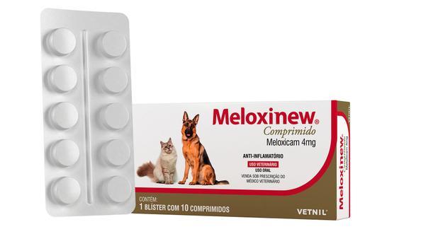 Anti Inflamatório Meloxinew 4mg- Cartela c/ 10 Comprimidos