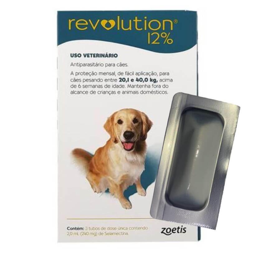 Anti Pulgas e Carrapatos Revolution Cães de 20,1kg a 40,0kg  - Agropet Mineiro