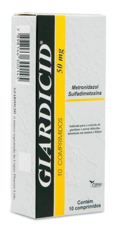 Antibiótico Giardicid 10 Comprimidos
