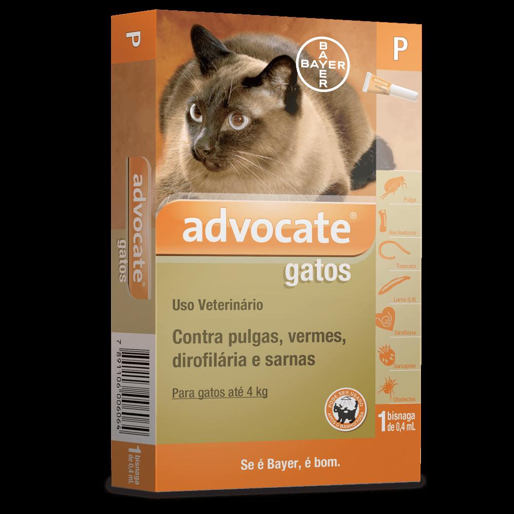 Antipulgas Bayer Advocate para Gatos Até 4 kg