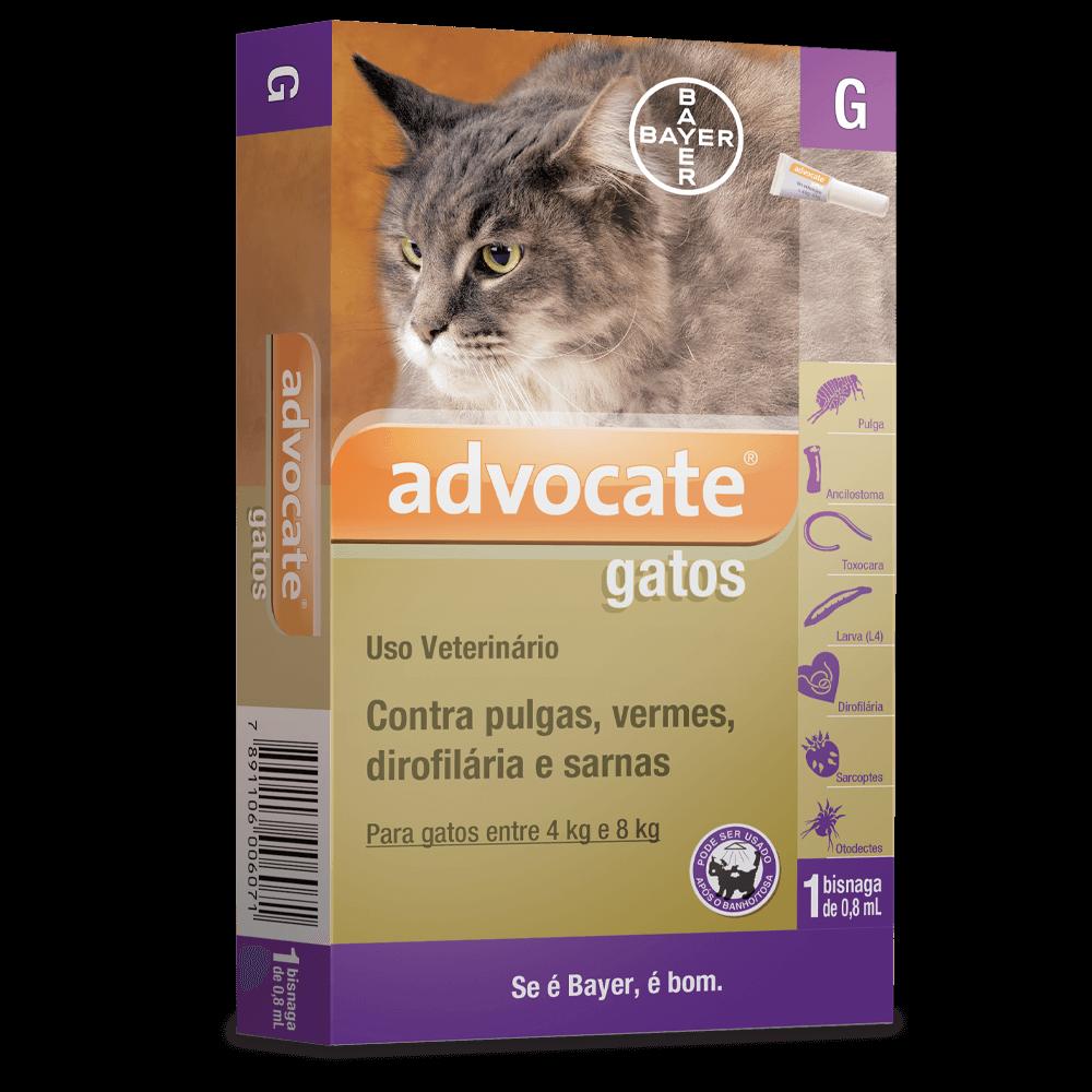 Antipulgas Bayer Advocate para Gatos de 4 a 8 kg