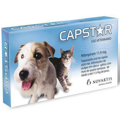 Antipulgas Capstar para Cães e Gatos até 11kg- 6 Comprimidos  - Agropet Mineiro