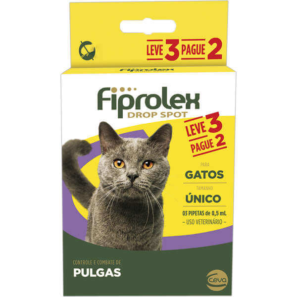 Antipulgas para Gatos Fiprolex Leve 3 Pague 2
