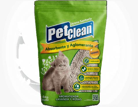 Areia Higiênica Aglutinante para Gatos Pet Clean Aromatizada  - FINA