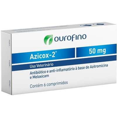 Antibiótico e Anti-inflamátório Azicox-2- Cartela com 6 Comprimidos