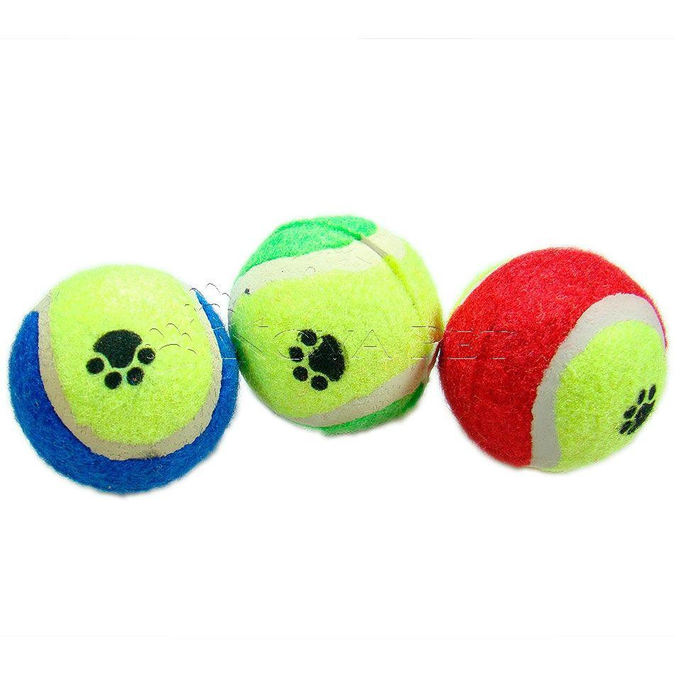 Bola de Tênis P - Kit com Três Unidades
